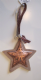 Copper & Wood Christmas Tree Decoration, Star,Heart or Tree.
